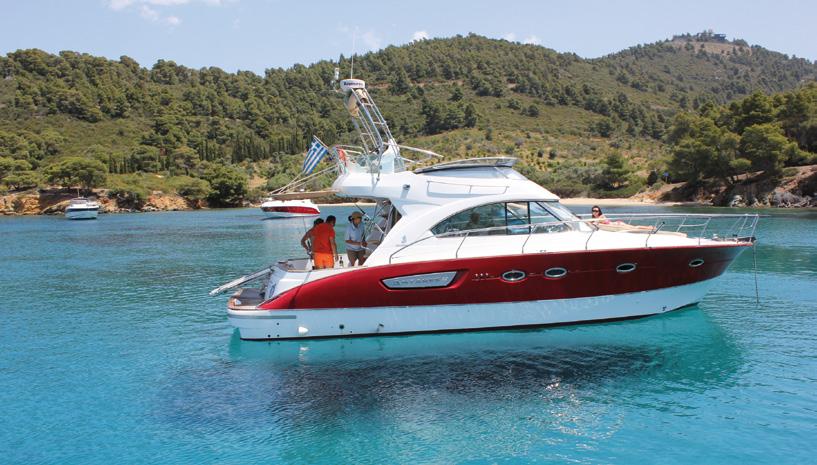 motor yacht in halkidiki